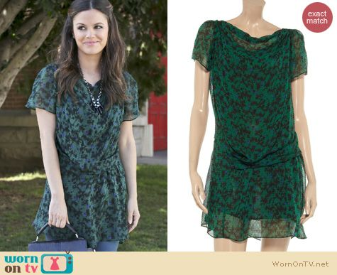 Hart of Dixie Fashion: Vanessa Bruno printed silk chiffon dress worn by Rachel Bilson