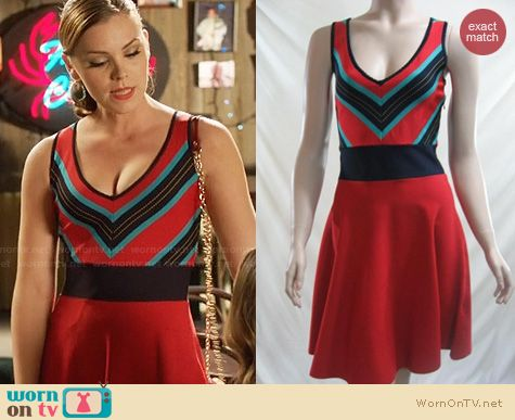 Hart of Dixie Fashion: Z Spoke by Zac Posen Black Cardinal Sweater Dress worn by Kaitlyn Black