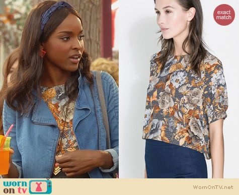 Hart of Dixie Fashion: Zara Floral Crop Top worn by Antoinette Robertson