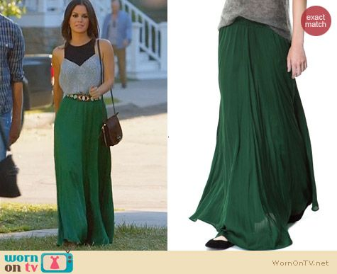 Hart of Dixie Style: Zara long green maxi skirt worn by Rachel Bilson