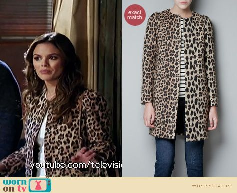 Hart of Dixie Fashion: Zara leopard coat worn by Rachel Bilson