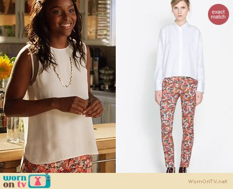Hart of Dixie Fashion: Zara Printed Trousers worn by Antoinette Robertson