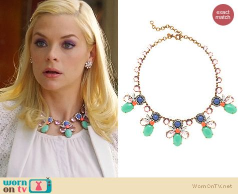 Hart of Dixie Jewelry: J. Crew Mixed Crystals Necklace worn by Jaime King