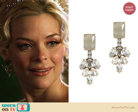 Hart of Dixie Jewelry: J. Crew Crystal Leaves Earrings worn by Jaime King