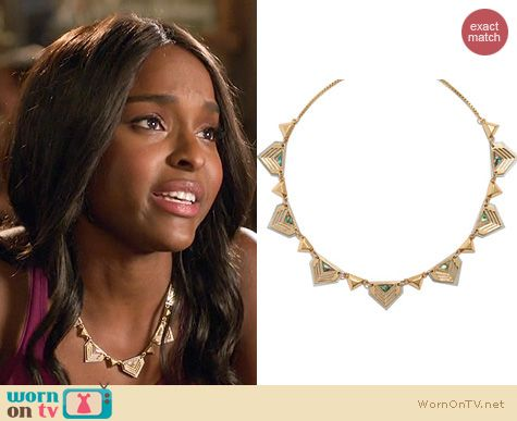 Hart of Dixie Jewelry: Madewell Chevron Seastone Necklace worn by Antroinette Robertson