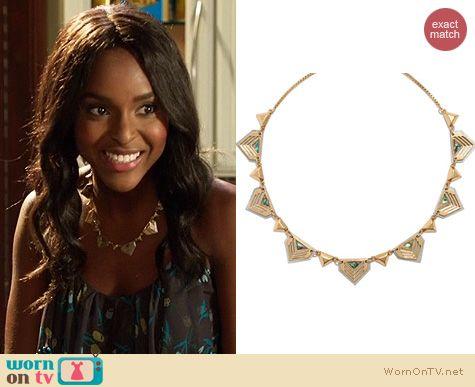Hart of Dixie Jewelry: Madewell Chevron Seastone Necklace worn by Antoinette Robertson