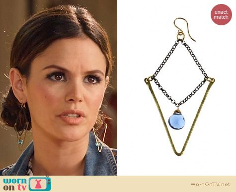 Hart of Dixie Jewelry: Nashelle Idaline Krush Earrings worn by Rachel Bilson