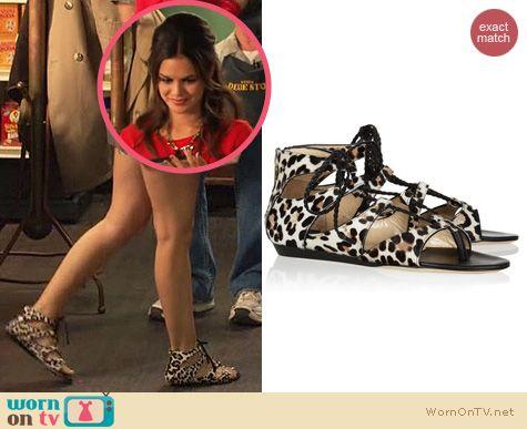 Hart of Dixie Shoes: Jimmy Choo Leopard print calf hair sandals worn by Rachel Bilson