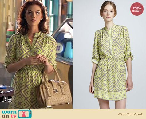 Hart of Dixie Style: Alice and Trixie Dylan geo print dress worn by Kaitlyn Black