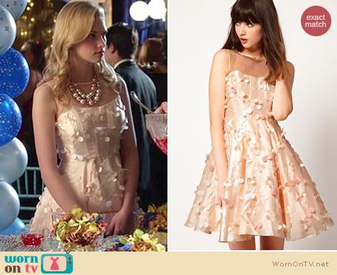 Hart of Dixie Style: ASOS Nishe floral lazer cut dress worn by Claudia Lee
