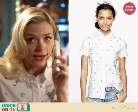 Hart of Dixie Style: J. Crew Collection beaded shirt worn by Jaime King