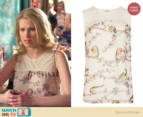 Hart of Dixie Style: Ted Baker Bird print top worn by Claudia Lee