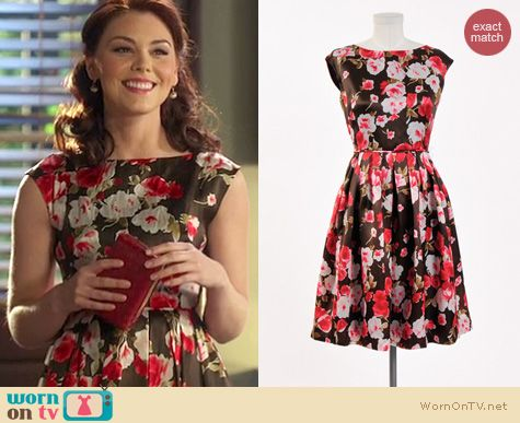 Hart of Dixie Style: Tess and Co Judy dress in Chocolate and Roses worn by Kaitlyn Black