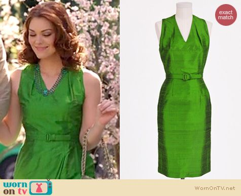 Hart of Dixie Style: Tess and Co Marilyn dress in poison apple green worn by Kaitlyn Black