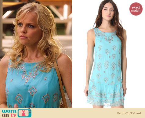 Hart of Dixie Style: Twelfth Street by Cynthia Vincent embroidered shift dress worn by Mircea Monroe