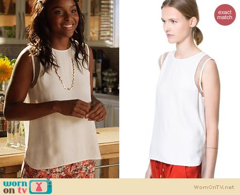 Hart of Dixie Style: Zara Combination Fabric Top worn by Antoinette Robertson