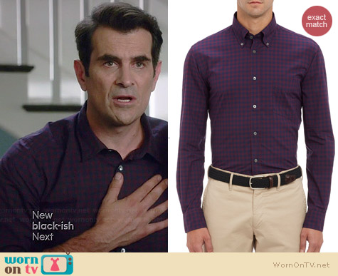 Hartford Plaid Poplin Shirt worn by Ty Burrel on Modern Family