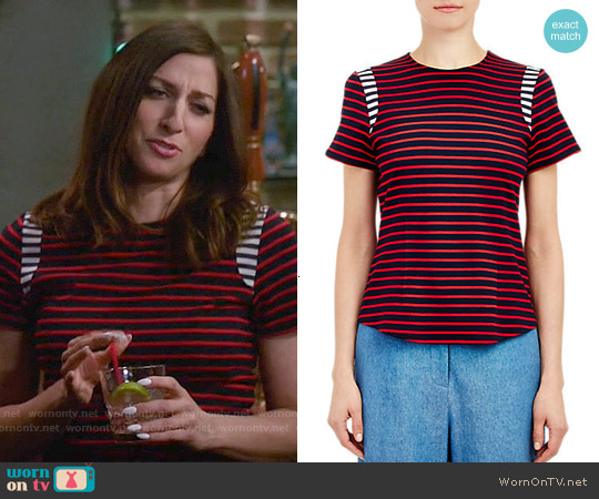 Harvey Faircloth Sailor Stripe T-shirt worn by Chelsea Peretti on Brooklyn Nine-Nine