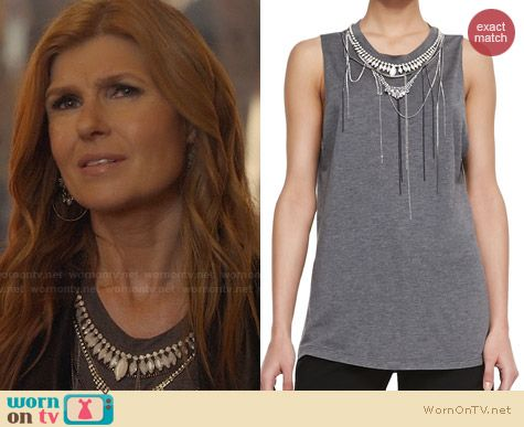 Haute Hippie Chains & Necklaces Muscle Tee worn by Connie Britton on Nashville
