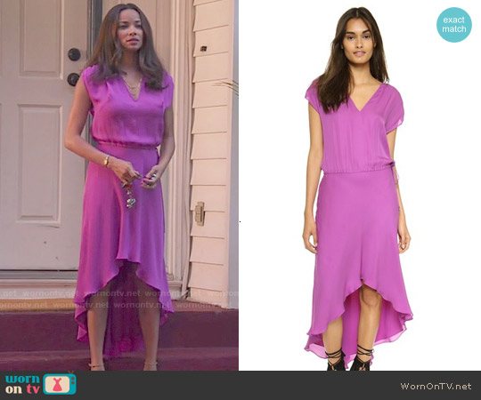 Haute Hippie Drawstring Dress in Lilac worn by Rochelle Aytes on Mistresses