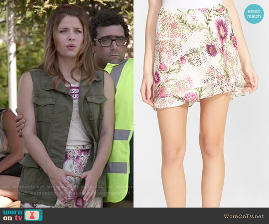 Haute Hippie Floral Print Double Layer Skirt worn by Audrey Pitagorski on Kevin from Work