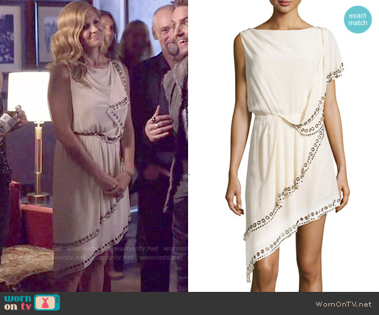 Haute Hippie Grommet/Nailhead-Trim Asymmetric Dress worn by Connie Britton on Nashville