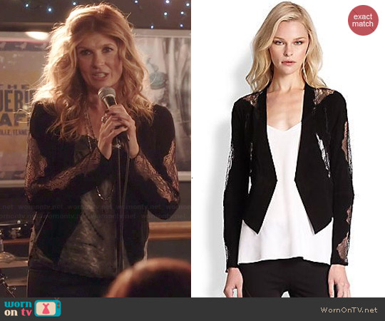 Haute Hippie Suede Lace-Detail Blazer worn by Connie Britton on Nashville