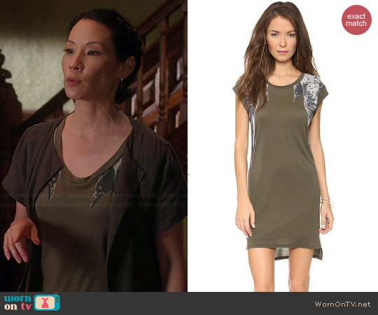 Haute Hippie Raven Dress worn by Lucy Liu on Elementary