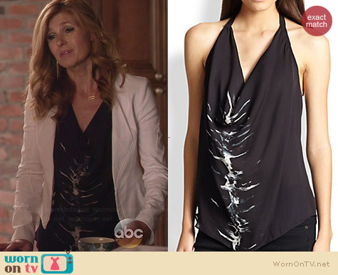 Haute Hippie Silk Cowl Halter Top worn by Connie Britton on Nashville