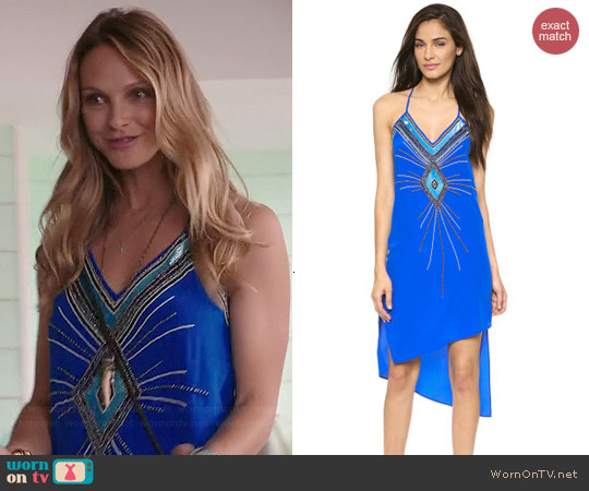 Haute Hippie V-neck Embellished Dress worn by Beau Garrett on GG2D