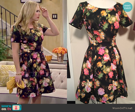 Heather Pain Custom Designed Floral Dress worn by Melissa Joan Hart on Melissa & Joey