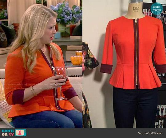 Heather Pain Peplum Jacket worn by Melissa Joan Hart on Melissa & Joey
