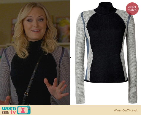 Helmut Lang Alpaca-Silk Pullover worn by Malin Akerman on Trophy Wife