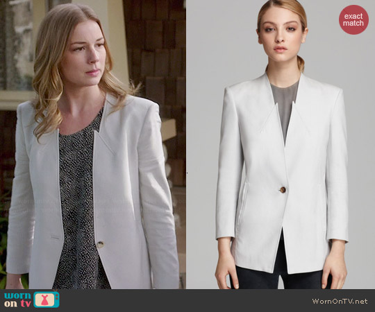 Helmut Lang Ark Suiting Blazer worn by Emily VanCamp on Revenge