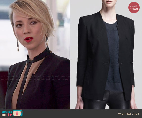 Helmut Lang Ark Suiting Blazer worn by Margaux Lemarchal on Revenge