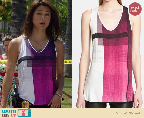 Helmut Lang Chroma Tank worn by Grace Parks on Hawaii Five-O