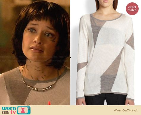 Helmut Lang Contour Melange Sweater worn by Brina Palencia on Star-Crossed