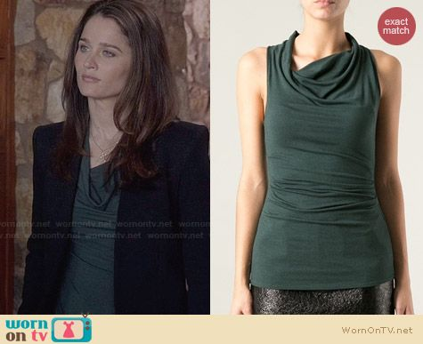 Helmut Lang Cowl Neck Top worn by Robin Tunney on The Mentalist