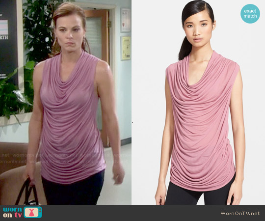 Helmut Lang Cowl Slack Jersey Top worn by Gina Tognoni on The Young & the Restless