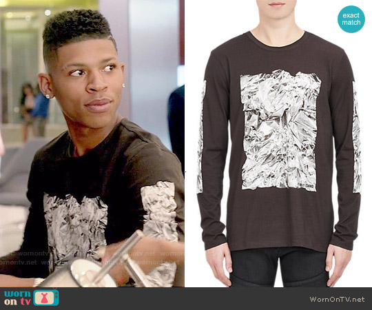 Helmut Lang Crumpled T-shirt worn by Bryshere Y. Gray on Empire