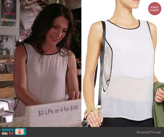 Helmut Lang Double Layered Chiffon Tank worn by Lisa Edelstein on GG2D