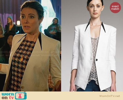 Helmut Lang Era Suiting Blazer worn by Christa Miller on Cougar Town