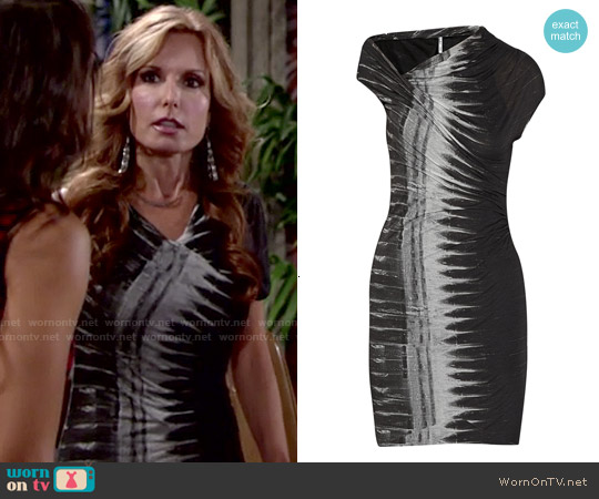 Helmut Lang Frequency Print Dress worn by Tracey Bregman on The Young & the Restless
