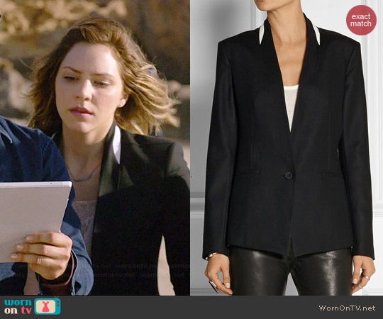 Helmut Lang Leather Trimmed Blazer worn by Katharine McPhee on Scorpion