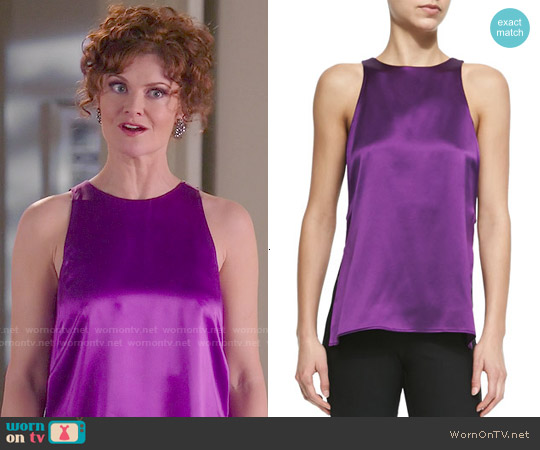 Helmut Lang Mere Side Slit Tank worn by Rebecca Wisocky on Devious Maids