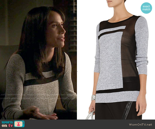 Helmut Lang 'Static Transfer' Sweater worn by Nina Lisandrello on Beauty & the Beast