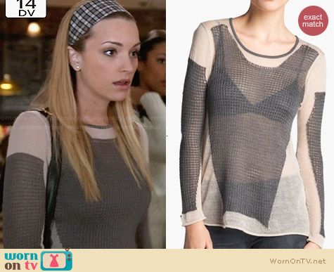 Helmut Lang Modern Lace Pullover worn by Brianne Howey on Twisted