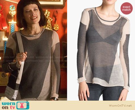 Helmut Lang Modern Lace Sweater worn by Brina Palencia on Star Crossed