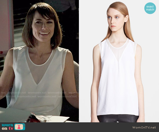 Helmut Lang Nexa Mesh Triangle Top worn by Constance Zimmer on UnReal