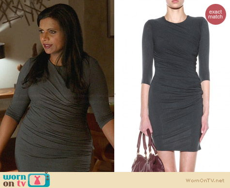Helmut Lang Nova Dress worn by Mindy Kaling on The Mindy Project